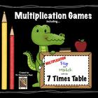 Multiplication Flip & Match Games with the 7 Time Tables