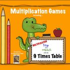 Multiplication Flip & Match Games with the 9 Times Table