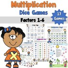 Multiplication Dice Games -Factors 1-6