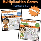 Multiplication Games Bundled-Factors 1-9