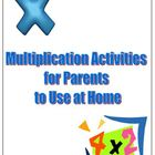 Multiplication Help and Activities for Parents at Home