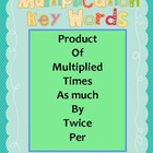 Multiplication Key Words