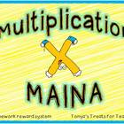 Multiplication Mania-homework reward system