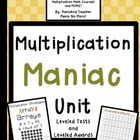 Multiplication Maniacs: Leveled Tests, Games, and Multipli