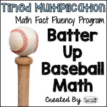 "Multiplication Math Facts Timed Tests-""Batter Up Baseball"""
