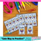 Multiplication Memory Game and Flash Cards {Cheerleading}