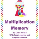 Multiplication Memory Sweet Treat
