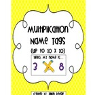 Multiplication Name Tags (Up to 10x10) FREEBIE