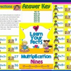 Multiplication Nines Math Center Station Activity Game