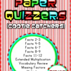 Multiplication Paper Quizzers (Cootie Catchers)