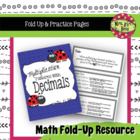 Multiplication Patterns with Decimals Fold-Up and More