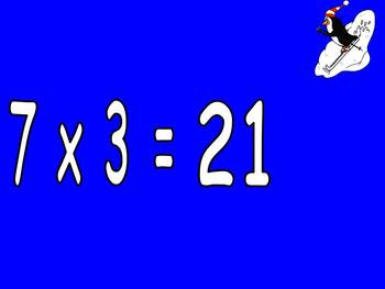 Multiplication PowerPoint 7s- Winter Theme