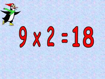 Multiplication PowerPoint 9s- Winter Theme