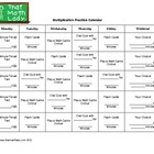Multiplication Practice Calendar (Template)