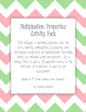 Multiplication Properties Activity Pack