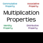 Multiplication Properties Posters and Practice Sheets