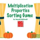 Multiplication Properties Sorting (Fall Themed)