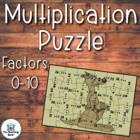 Multiplication Puzzle Covers Factors 0-10~Common Core Aligned!