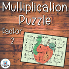 Multiplication Puzzle for Factor 2