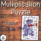 Multiplication Puzzle for Factor 8