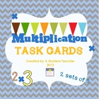 Multiplication Question, Task Cards 2nd, 3rd Common Core Aligned
