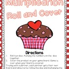 Multiplication Roll and Cover {Valentine's Day Themed} for