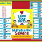Multiplication Sevens Math Center Station Game