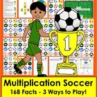 Multiplication Soccer Math Centers- 3 Ways To Play