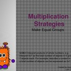 Multiplication Strategies: Make Equal Groups Powerpoint