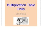 Multiplication Table Drills Unit