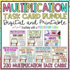 Multiplication Task Card Bundle *152 Differentiated Task C
