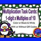 Multiplication Task Cards: 1-digit x Multiples of 10 (with