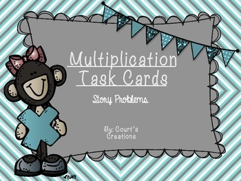 Multiplication Task Cards- Story Problems