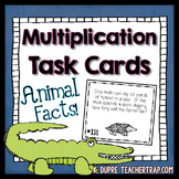 Multiplication Task Cards With Animal Facts