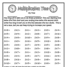 Multiplication Time - Practice Your Facts