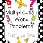 Multiplication Word Problems: Package One