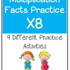 Multiplication Facts X8 Practice Activities