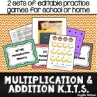 Multiplication and Addition KITs: Fun math fact practice g