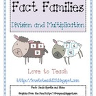 Multiplication and Division Fact Family Lambs