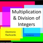 Multiplication and Division Integer Electronic Flashcards