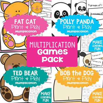 Multiplication and Division Math Center Games Pack