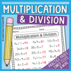 Multiplication and Division Math Packet