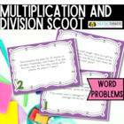 Multiplication and Division Word Problem Scoot Task Cards