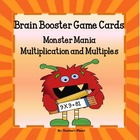Multiplication and Multiples Brain Booster Game Cards!