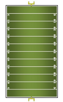 Multiplication facts FOOTBALL game - Practice x2 through x