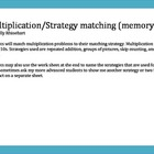 Multiplication strategies matching game (Memory)