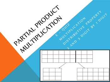 Multiplication with Partial Products E-Quiz
