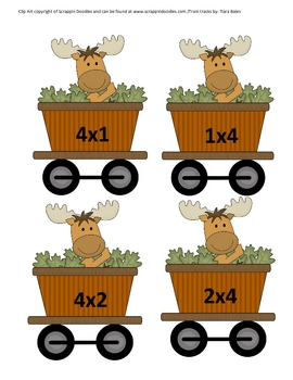 Multiply by 4's Train Math