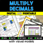 Multiplying Decimals Using Visual Models Pack - Common Core 5th