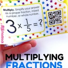 Multiplying Fractions QR Code Fun - 4.NF.B.4